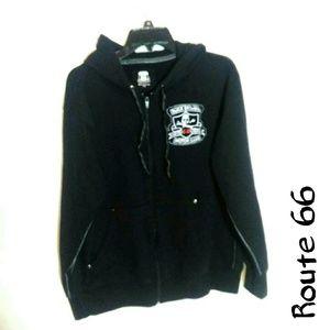 Route 66 hot rod series large zip hoodie